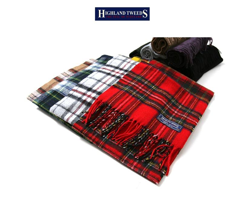 ハイランドツイード HIGHLAND TWEEDS ウール マフラー タータンスカーフ