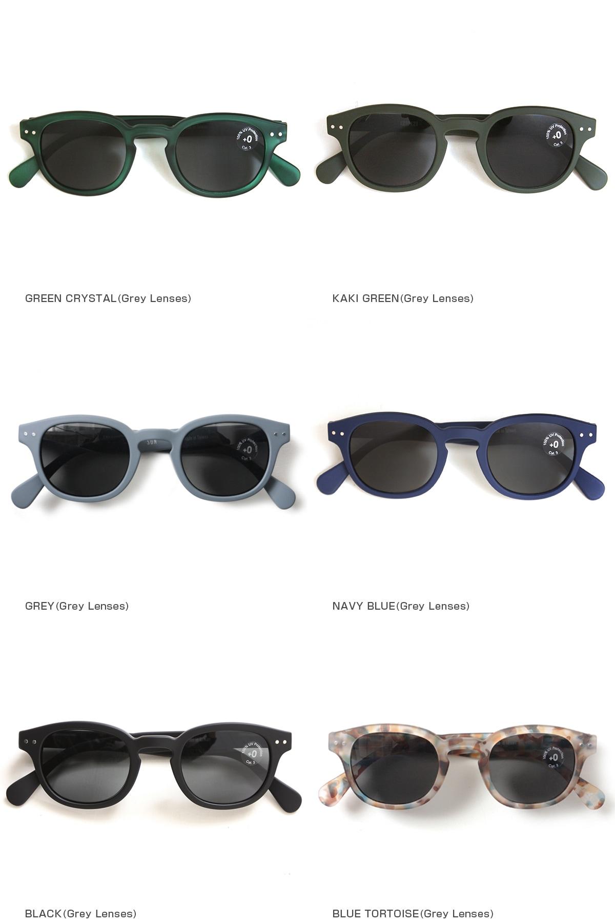 IZIPIZI イジピジ see concept シーコンセプト メガネ 眼鏡 老眼鏡 サングラス #C SUN グレーレンズ グリーンレンズ ボスリントン ウエリントン