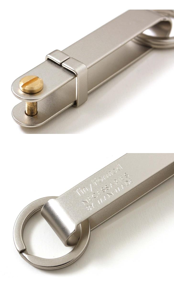 タイニーフォームド Tiny Formed タイニーメタルキーフリック Tiny metal key flick TM-08S TM-08B シルバー ブラス  真鍮 キーリング キーホルダー