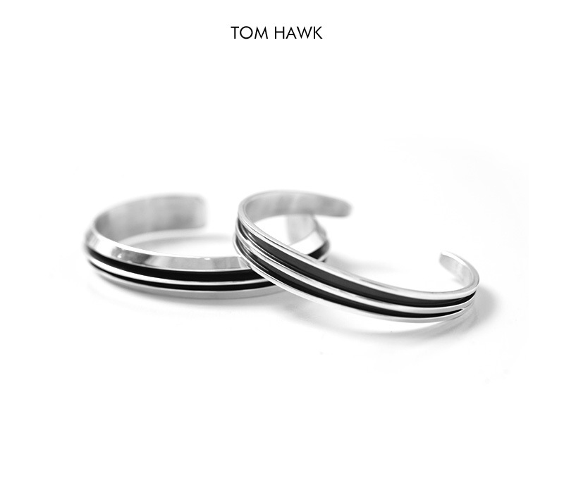 TOM HAWK トムホーク ナバホ 2ライン シルバー バングル インディアンジュエリー