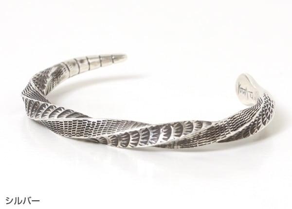 ツナイハイヤ スネークバングル Tsunai Haiya Snake Bangle シルバー 蛇