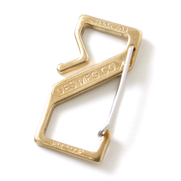 UES ウエス 真鍮 Zフック Z-HOOK カラビナ キーフック キーリング キーホルダー
