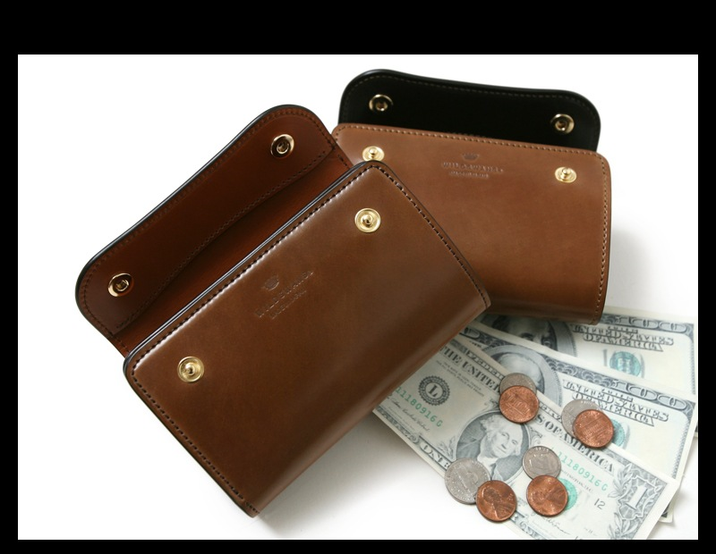 WILDSWANS ワイルドスワンズ BYRNE バーン ホーウィン コードバン バーボン 三つ折り財布 ウォレット 限定 別注