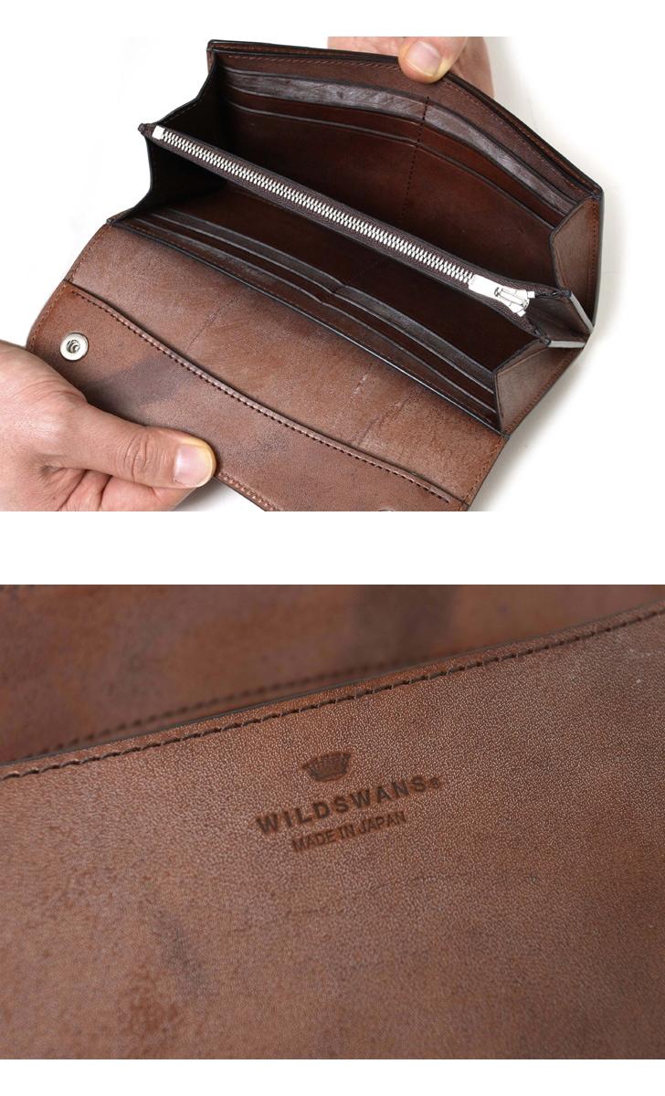 WILDSWANS ワイルドスワンズ WAVE ウェイブ フルグレイン ブライドルレザー ベイカー 長財布 ロングウォレット