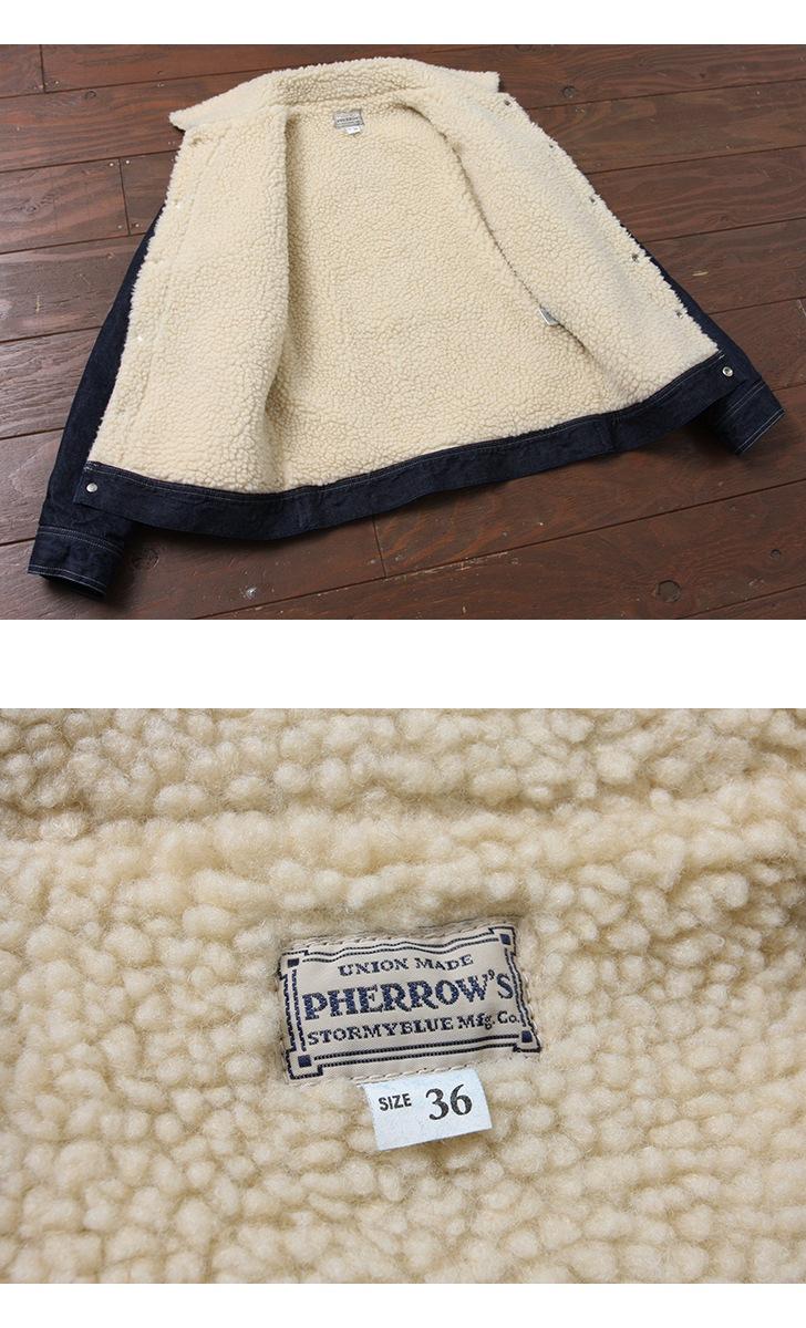 フェローズ Pherrow's ボアジャケット コーデュロイ デニム 17W-PRJ-91