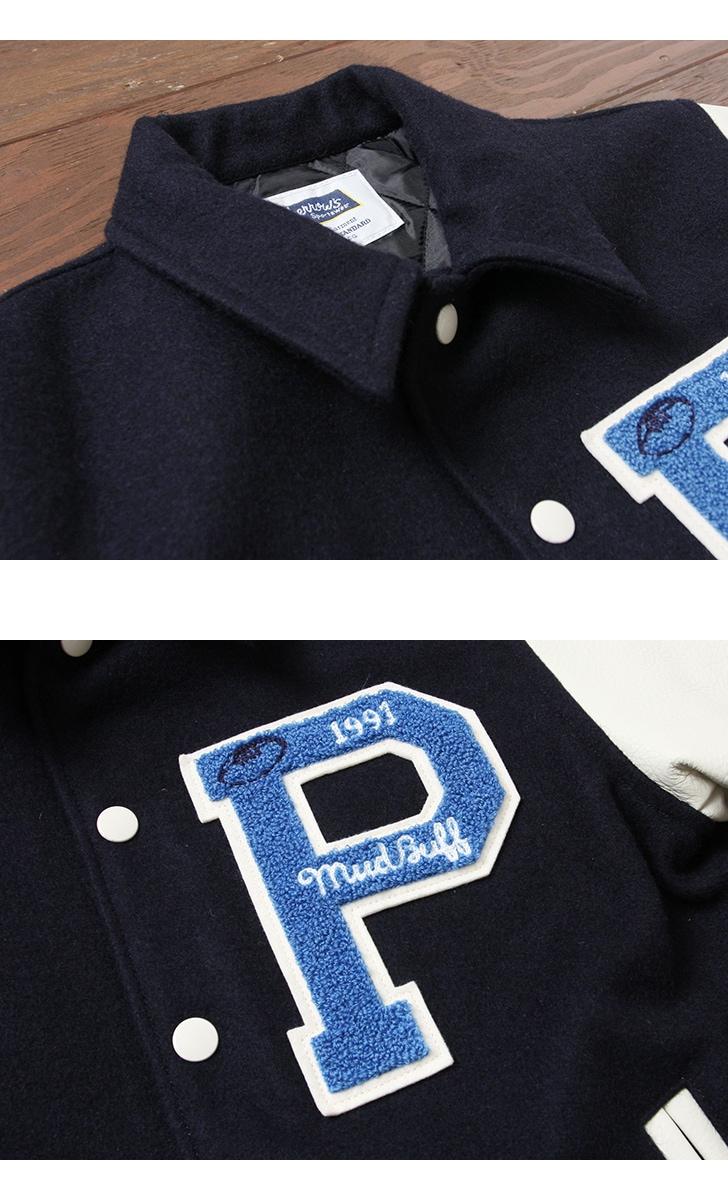 フェローズ Pherrow's スタジャン スタジアムジャンパー アワードジャケット 17W-PSCJ1