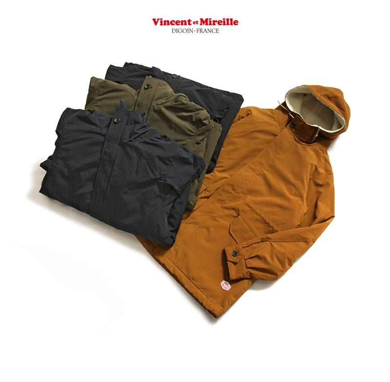 ヴァンソン エ ミレイユ Vincent et Mireille M-47パーカ 裏ボアパーカ VM182MB25030