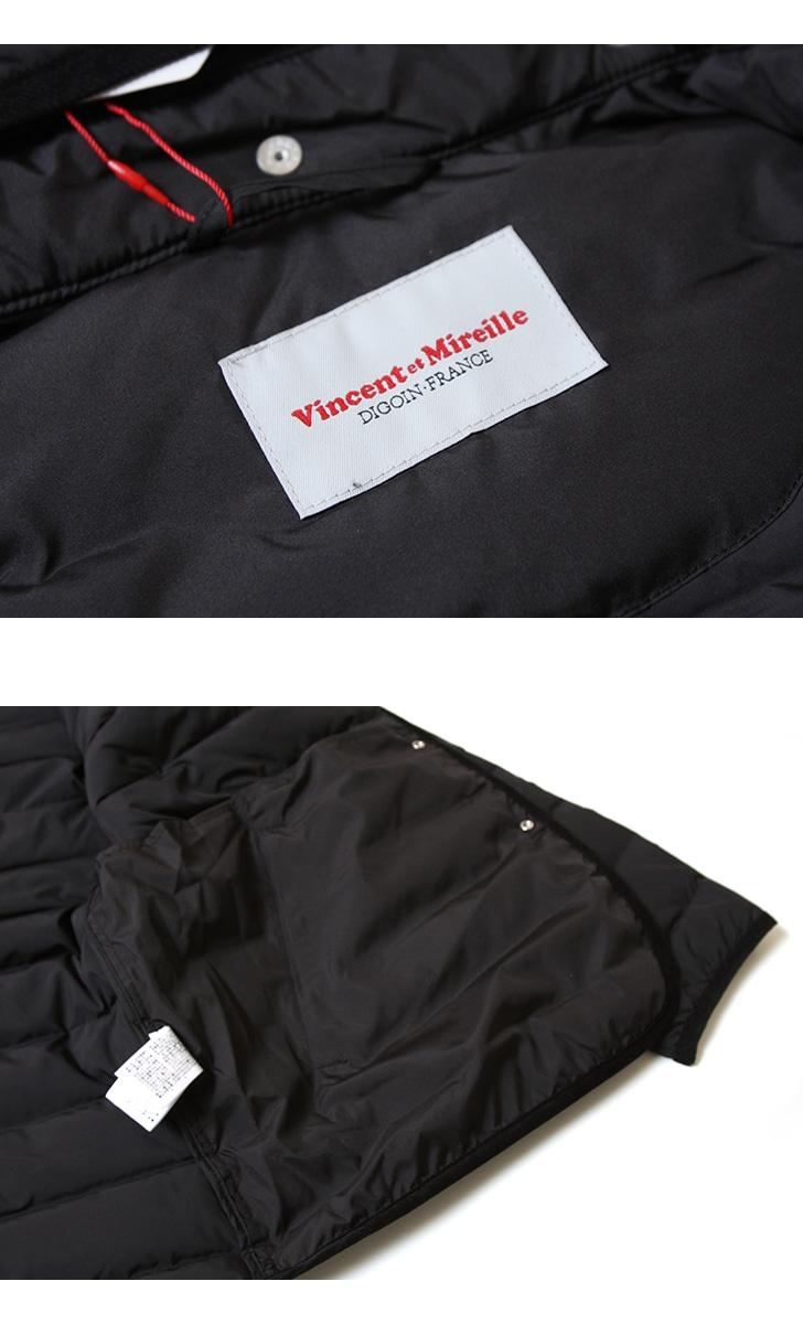 ヴァンソン エ ミレイユ Vincent et Mireille ステッチレスダウンジャケット VM182SD26020