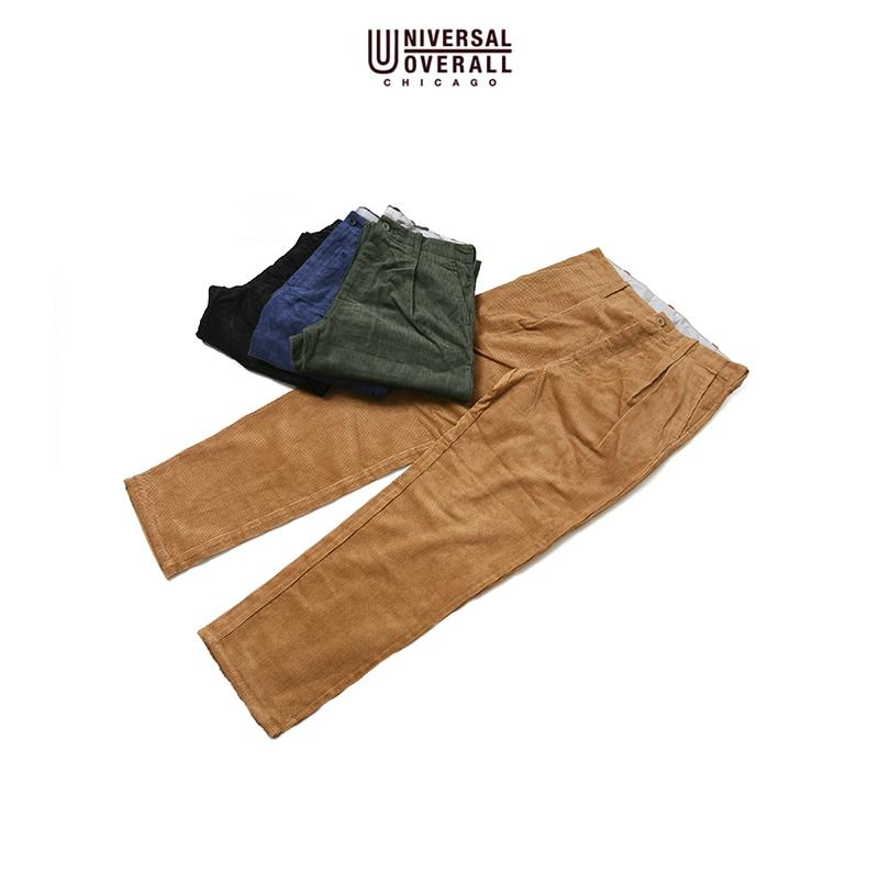 UNIVERSAL OVERALL TUCK PANTS 8W CORDUROY ユニバーサルオーバーオール コーデュロイタックパンツ U7426249-D