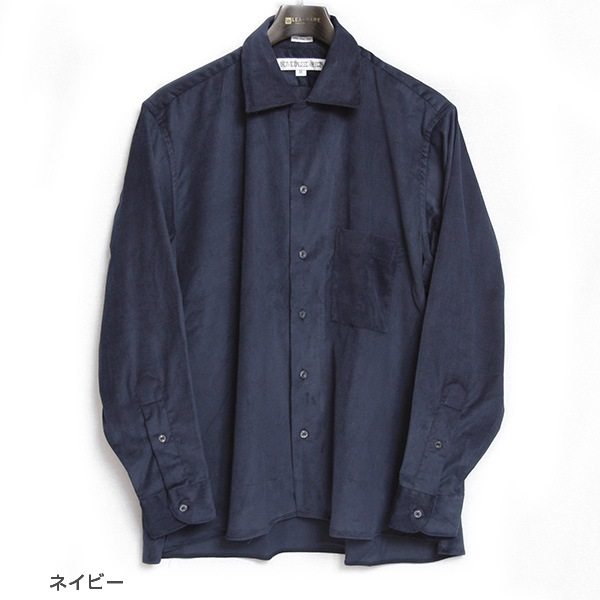 INDIVIDUALIZED SHIRTS インディビジュアライズドシャツ Athletic Fit Camp Collar Long Sleeve Shirts コーデュロイ