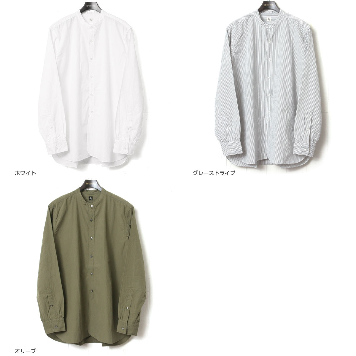 KAPTAIN SUNSHINE キャプテンサンシャイン Band Collar Shirt バンドカラーシャツ KS7FSH02