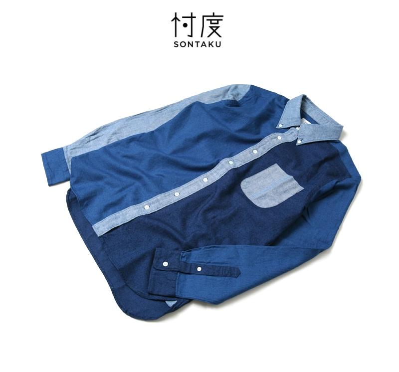 忖度 ソンタク SONTAKU インディゴクレイジーBDシャツ 99405