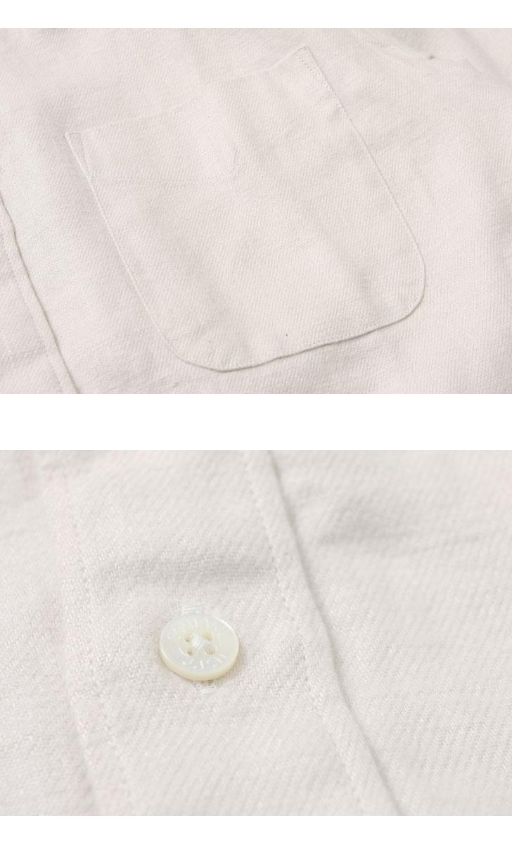 SONTAKU ソンタク JAPAN LINEN FLANNEL BD SHIRT ジャパンリネンフランネルBDシャツ 99409