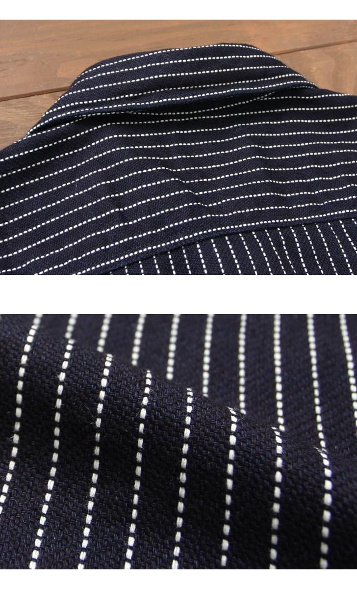 UES インディゴストライプネルシャツ 501656