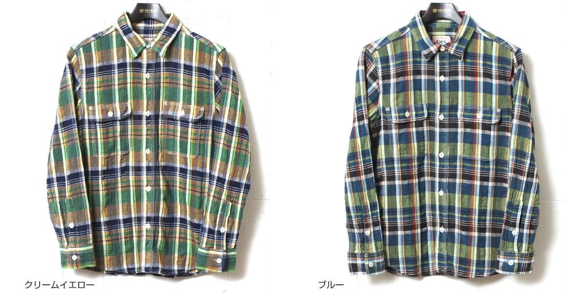 UES ウエス 追撚チェックシャツ 501701