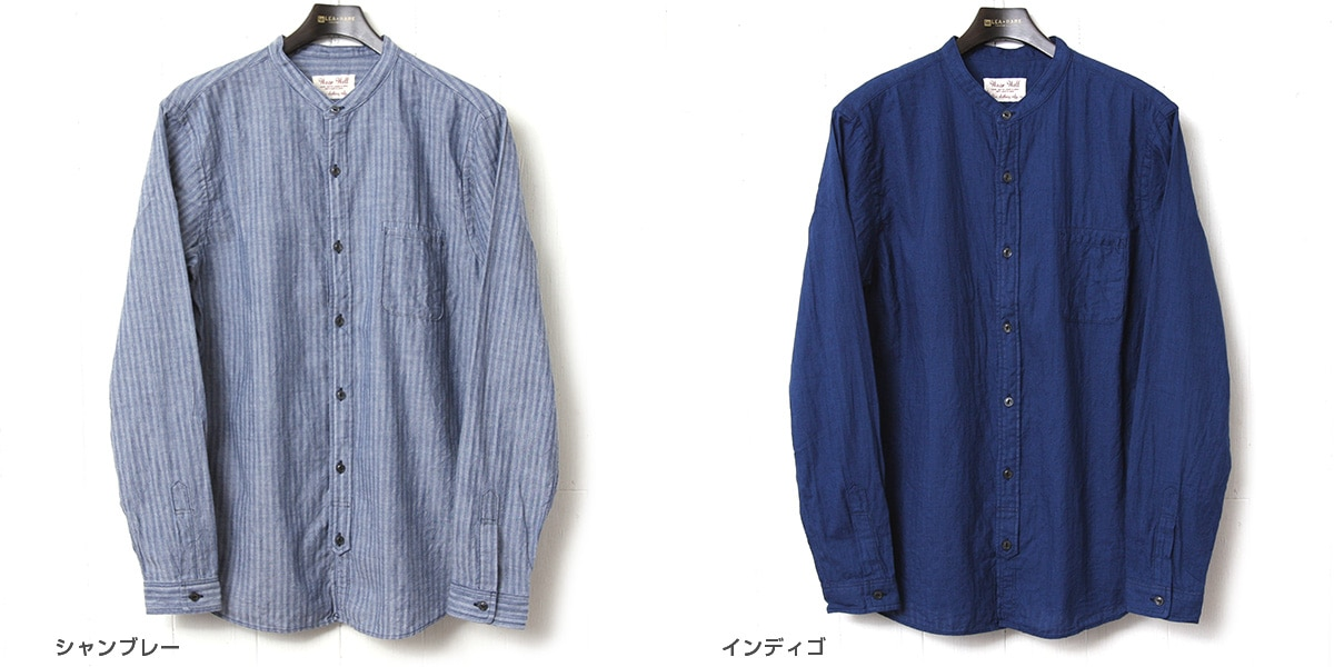 UES ウエス バンドカラーシャツ 501805