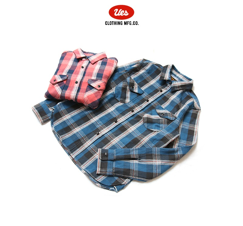 UES ウエス 先染ヘビーネルシャツ 501851