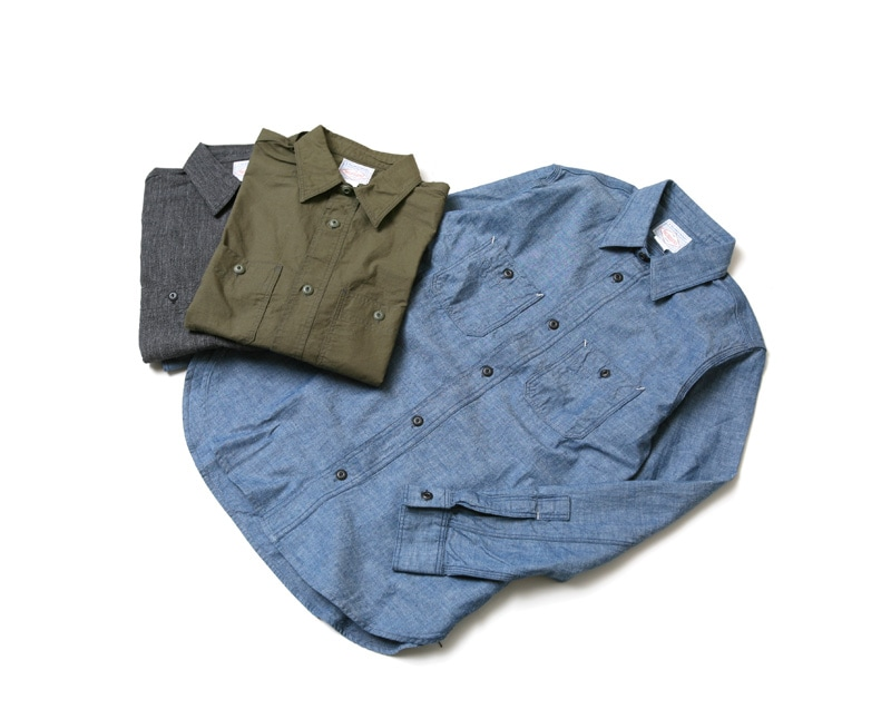 WORKERS ワーカーズ Metal Button Work Shirt メタルボタンワークシャツ