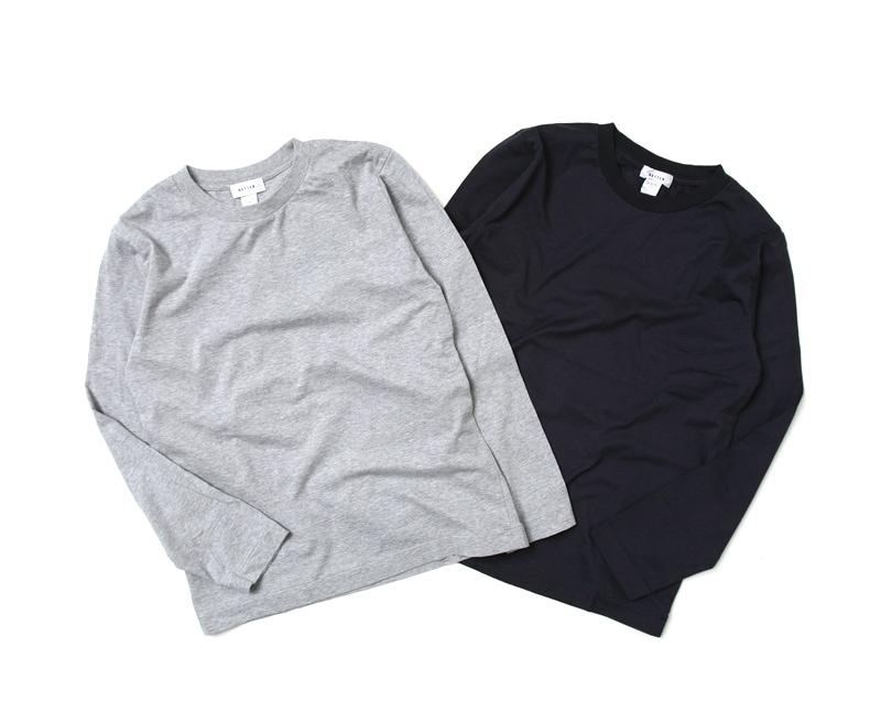 BETTER ベター クルーネックロングスリーブTシャツ BTR1601L 長袖Tシャツ メンズ