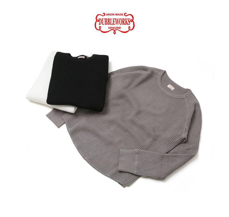 ダブルワークス DUBBLEWORKS クルーネック ワッフル 長袖Tシャツ 57003