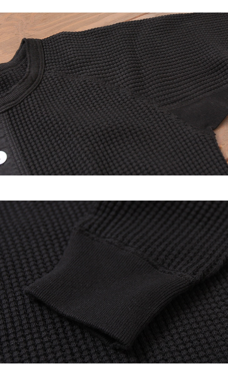 ダブルワークス DUBBLEWORKS ヘンリーネック ワッフル 長袖Tシャツ 57005