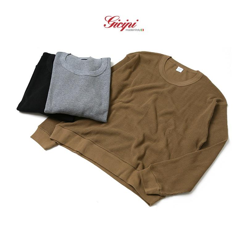 ジチピ Gicipi ヘビーウェイトサーマルロングスリーブスウェットTシャツ メンズ 1705A