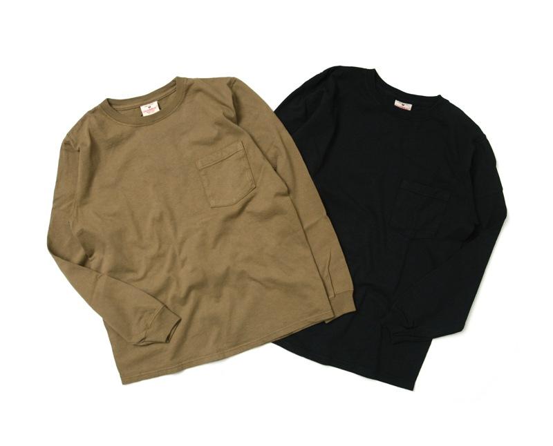グッドウェア GOODWEAR クルーネックポケット長袖Tシャツ ジャパンカスタムモデル