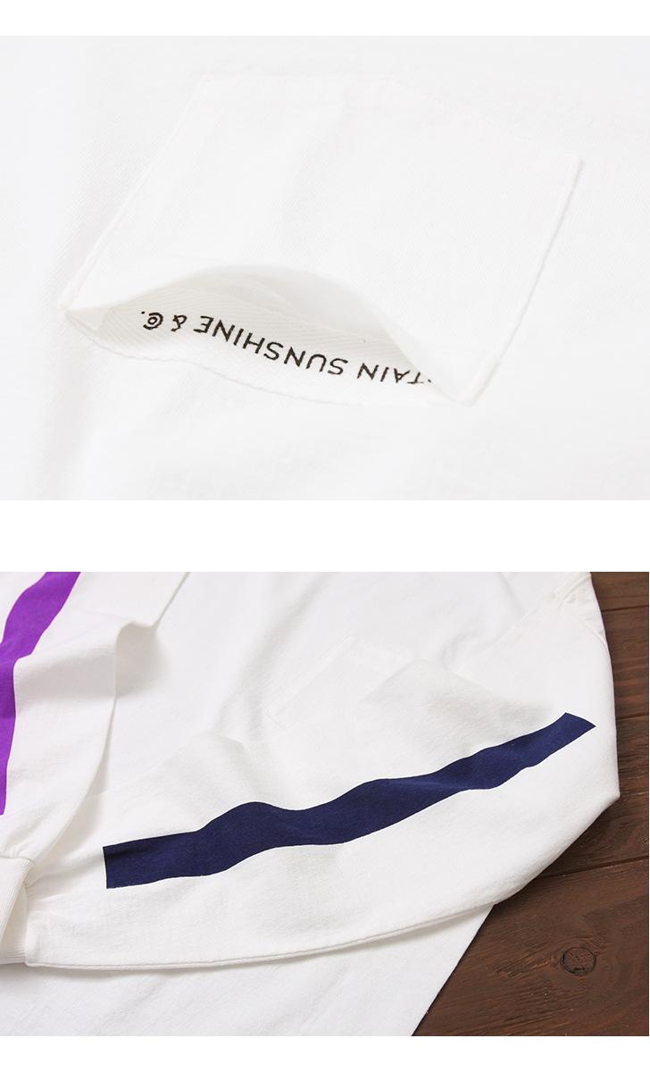 KAPTAIN SUNSHINE キャプテンサンシャイン West Coast Long Sleeved Tee ラインプリント長袖Tシャツ KS8FCS10