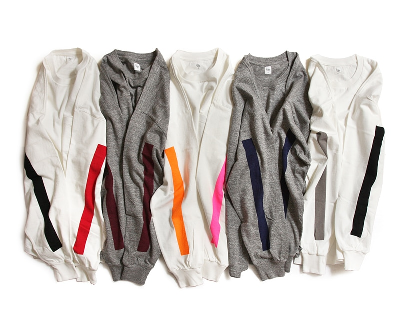 KAPTAIN SUNSHINE キャプテンサンシャイン West Coast Long Sleeved Tee ラインプリント長袖Tシャツ KS9FCS11