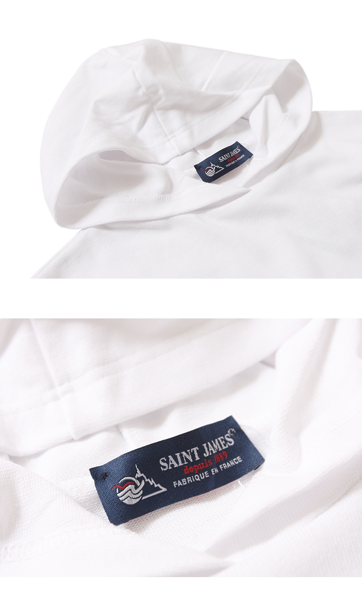 セントジェームス フード付コットンTシャツ SAINTJAMES HOODED T-SHIRT 17JC OUESS CAPU 【レディース&メンズ】