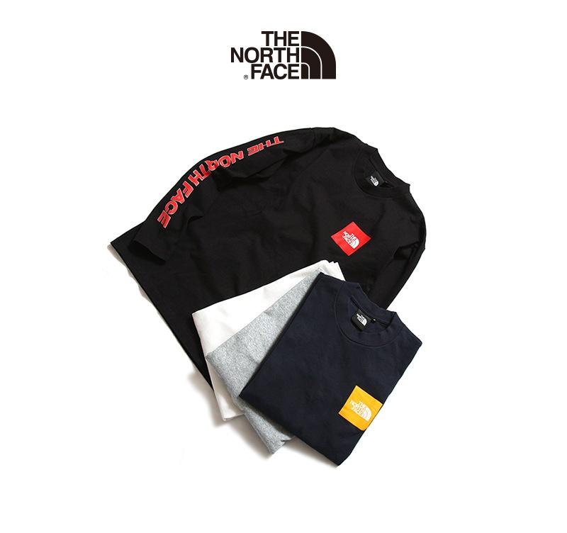 THE NORTH FACE ザ ノースフェイス ロングスリーブスクエアロゴスリーブティー NT31951