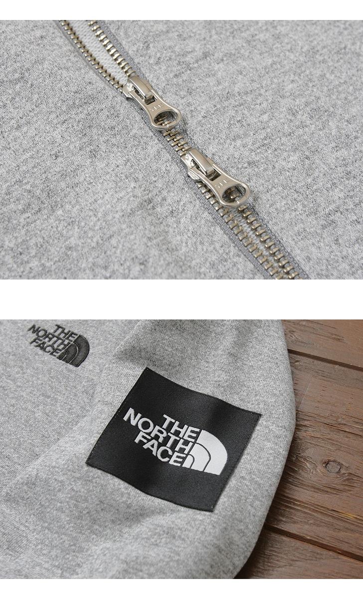 THE NORTH FACE ザ ノースフェイス スクエアロゴ フルジップフーディ パーカー NT11836