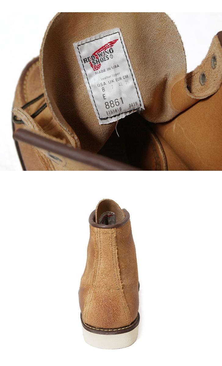 レッドウィング REDWING クラシックワーク 6インチ モックトゥ ブーツ ホーソーン ミュールスキナー ラフアウト 8861 国内正規品