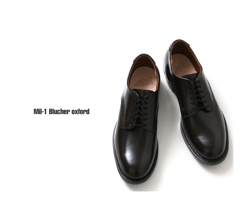 レッドウイング REDWING Mil-1 Blucher Oxford 9086 シガーブラウン 国内正規品