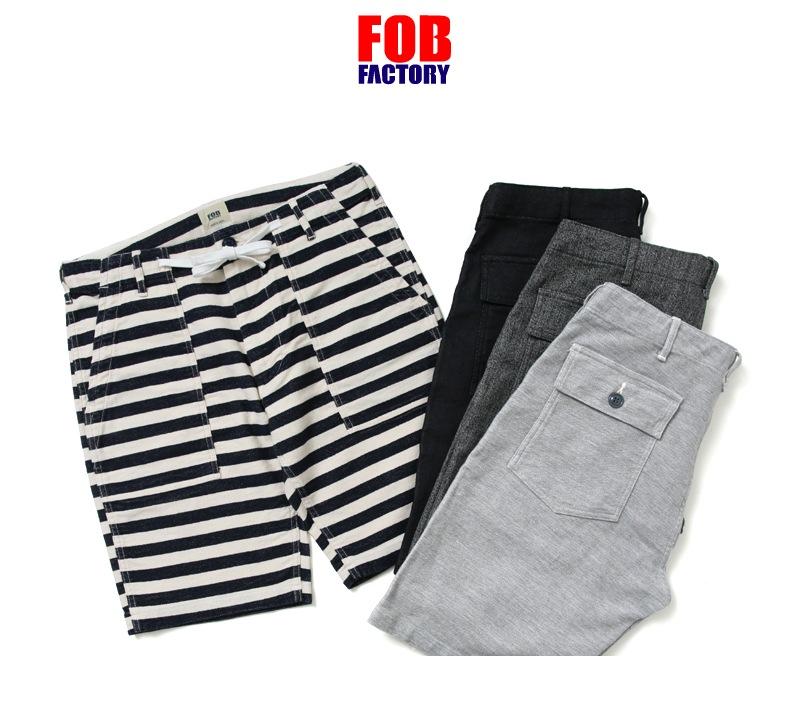 FOB FACTORY エフオービーファクトリー F4147 リラックス ベーカーショーツ RELAX BAKER SHORTS