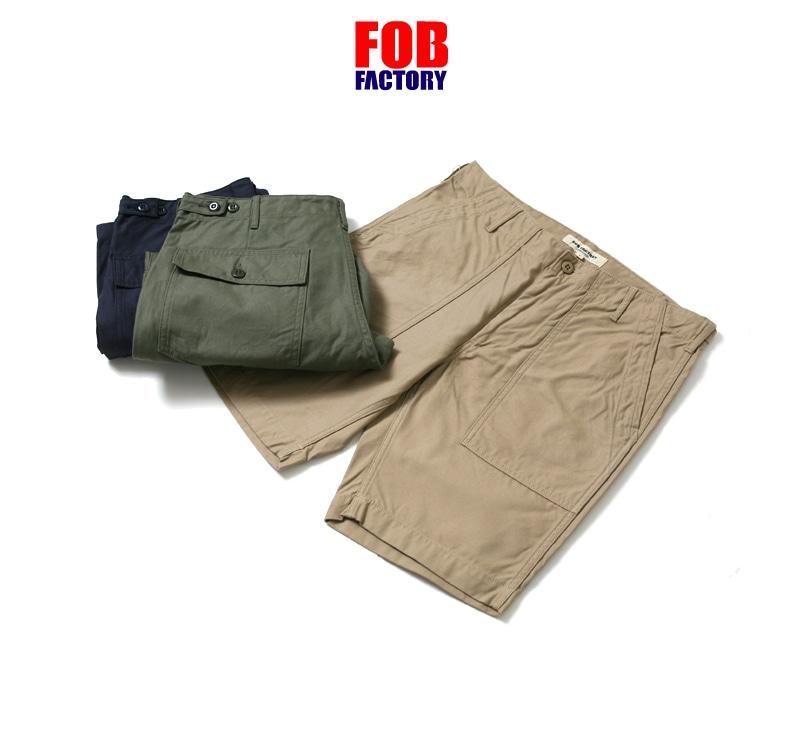 FOB FACTORY エフオービーファクトリー ベイカーショーツ F4161