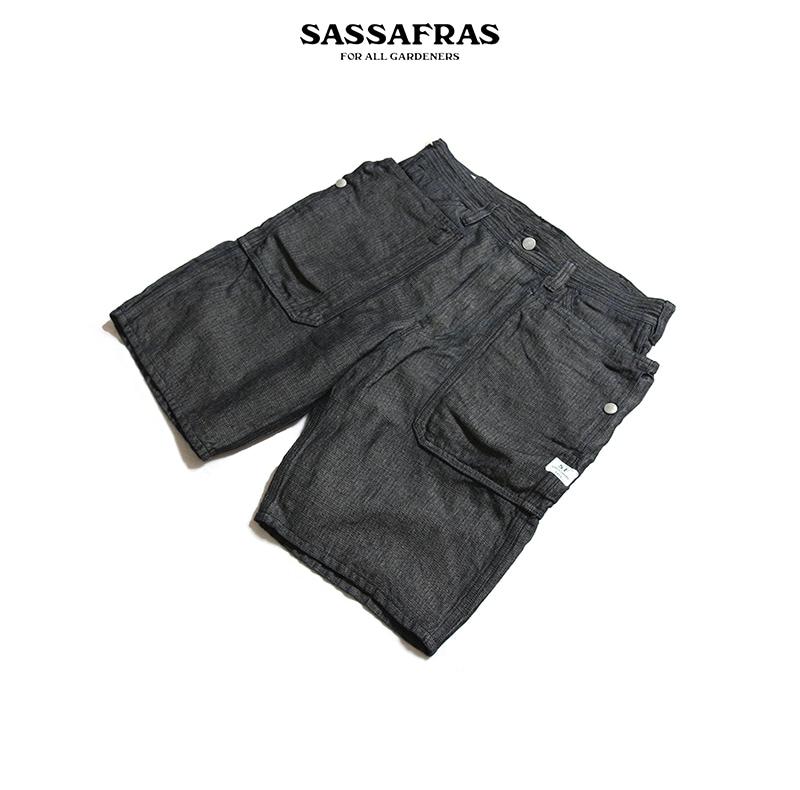 SASSAFRAS ササフラス Fall Leaf Pants 1/2 フォールリーフショートパンツ SF-191483