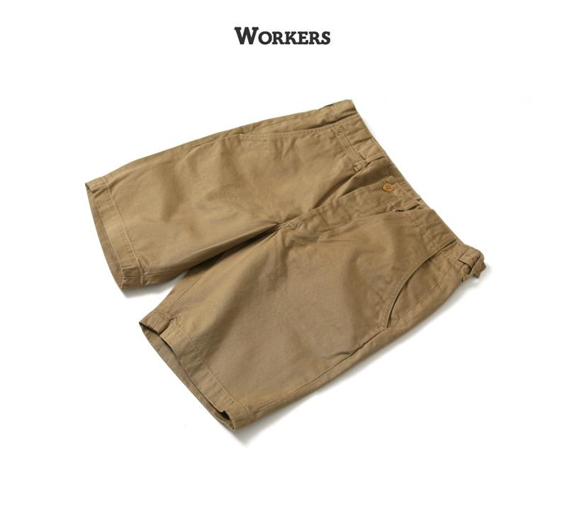 WORKERS ワーカーズ Officer Shorts オフィサーショーツ チノショートパンツ
