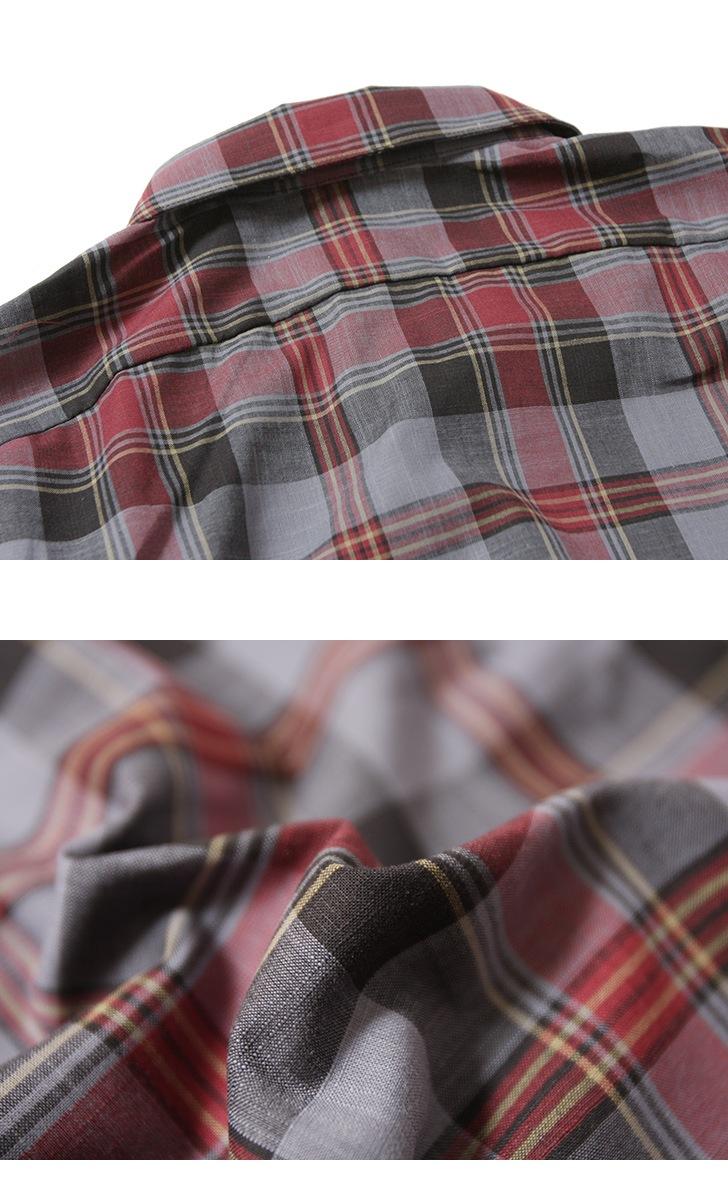 INDIVIDUALIZED SHIRTS インディビジュアライズドシャツ Athletic Fit Camp Collar Short Sleeve Shirts チェック生地