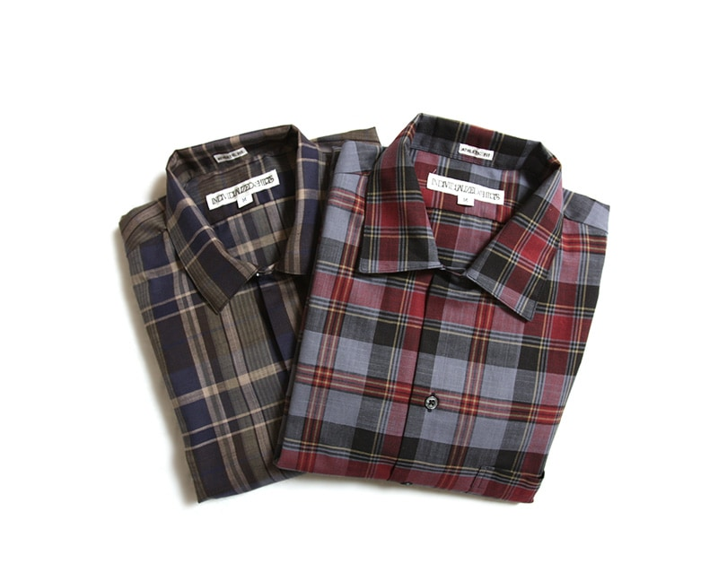 INDIVIDUALIZED SHIRTS インディビジュアライズドシャツ Athletic Fit Camp Collar Short Sleeve Shirts チェック生地