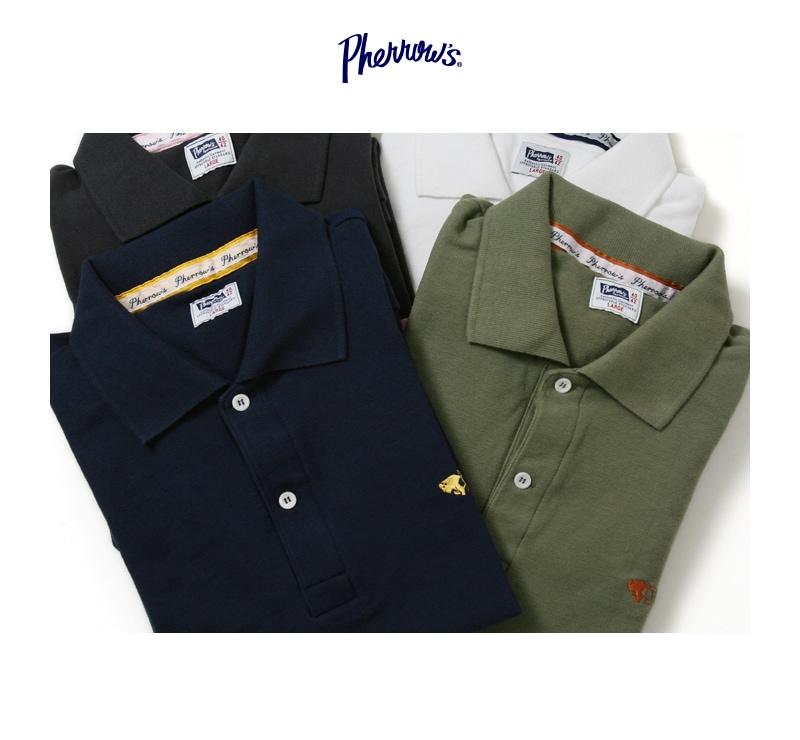 フェローズ Pherrow's PPS1 鹿の子ポロシャツ