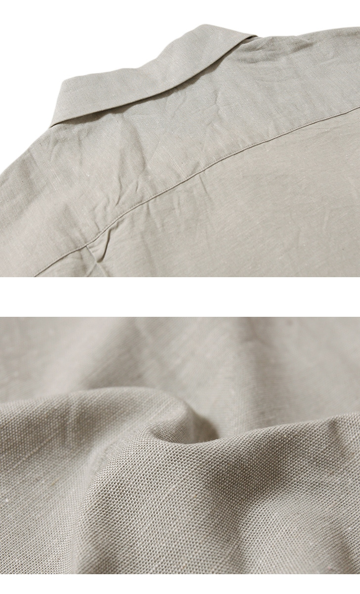 SERO セロ コットンリネン 半袖オープンカラーシャツ SR191CL16031