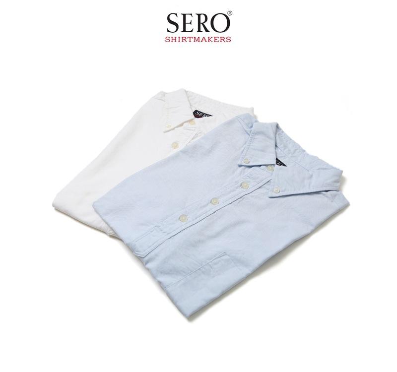 SERO セロ オックスフォードプルオーバーボタンダウンシャツ SR70OX621M