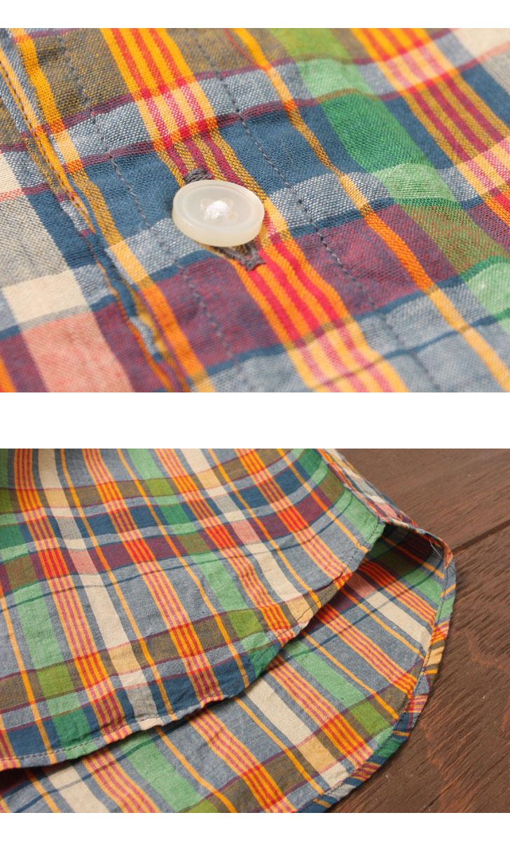 SERO セロ マドラスプルオーバーボタンダウンシャツ SR71MA621M