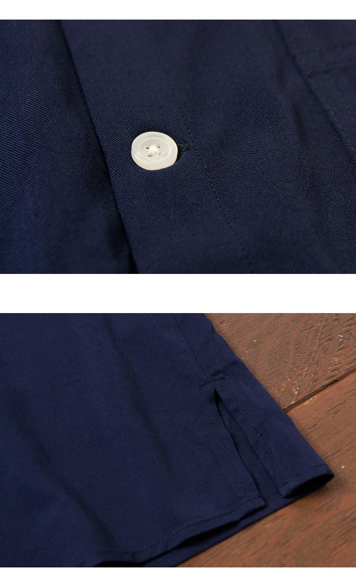 UNIVERSAL OVERALL ユニバーサルオーバーオール レーヨンツイル オープンカラー半袖シャツ U813168