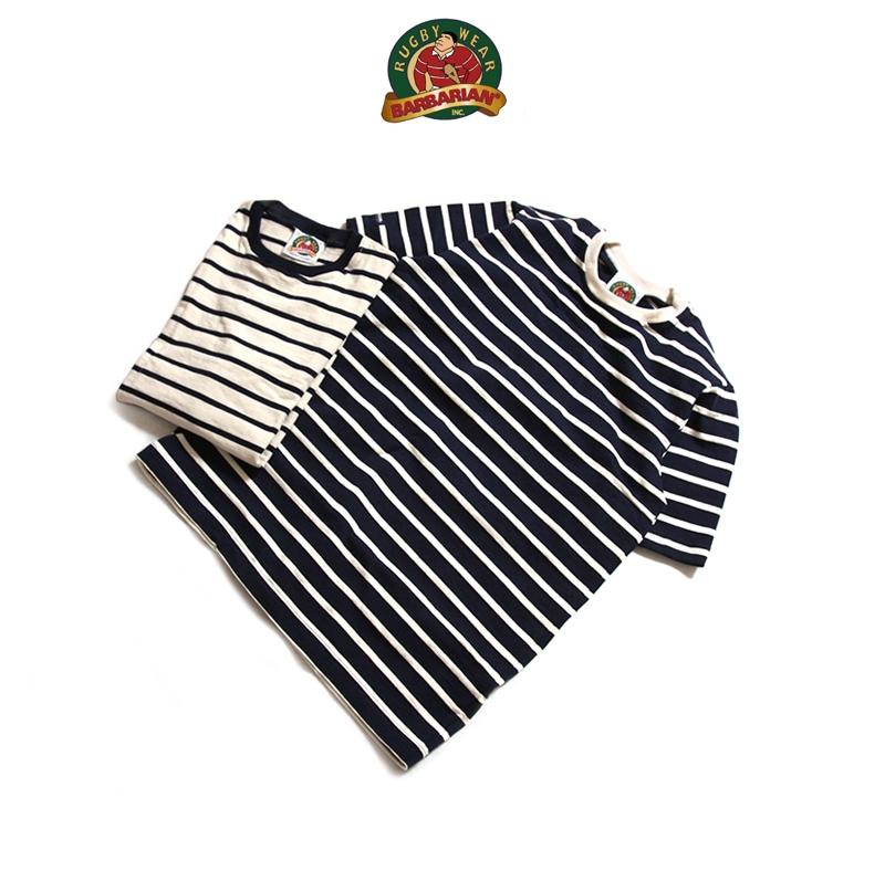 BARBARIAN バーバリアン ライトウェイトクルーネック半袖Tシャツ ボーダー
