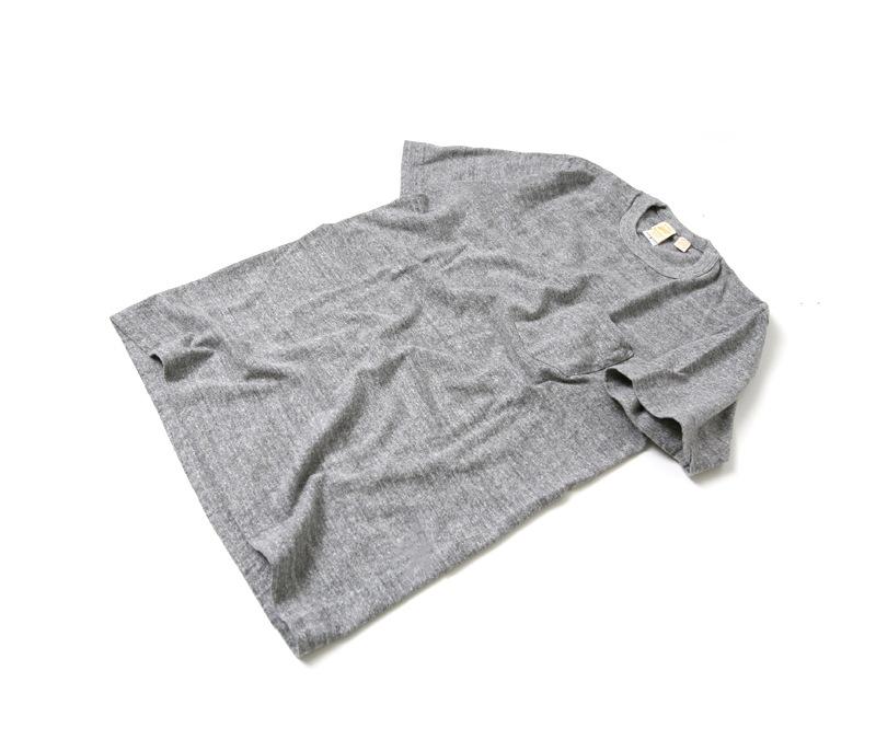 バーンズ BARNS 吊り編み天竺クルーネックポケットTシャツ BR-1100