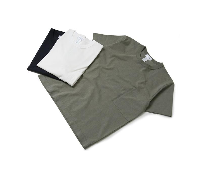 BETTER ベター スーピマスラブ クルーネックポケットTシャツ BTR1802