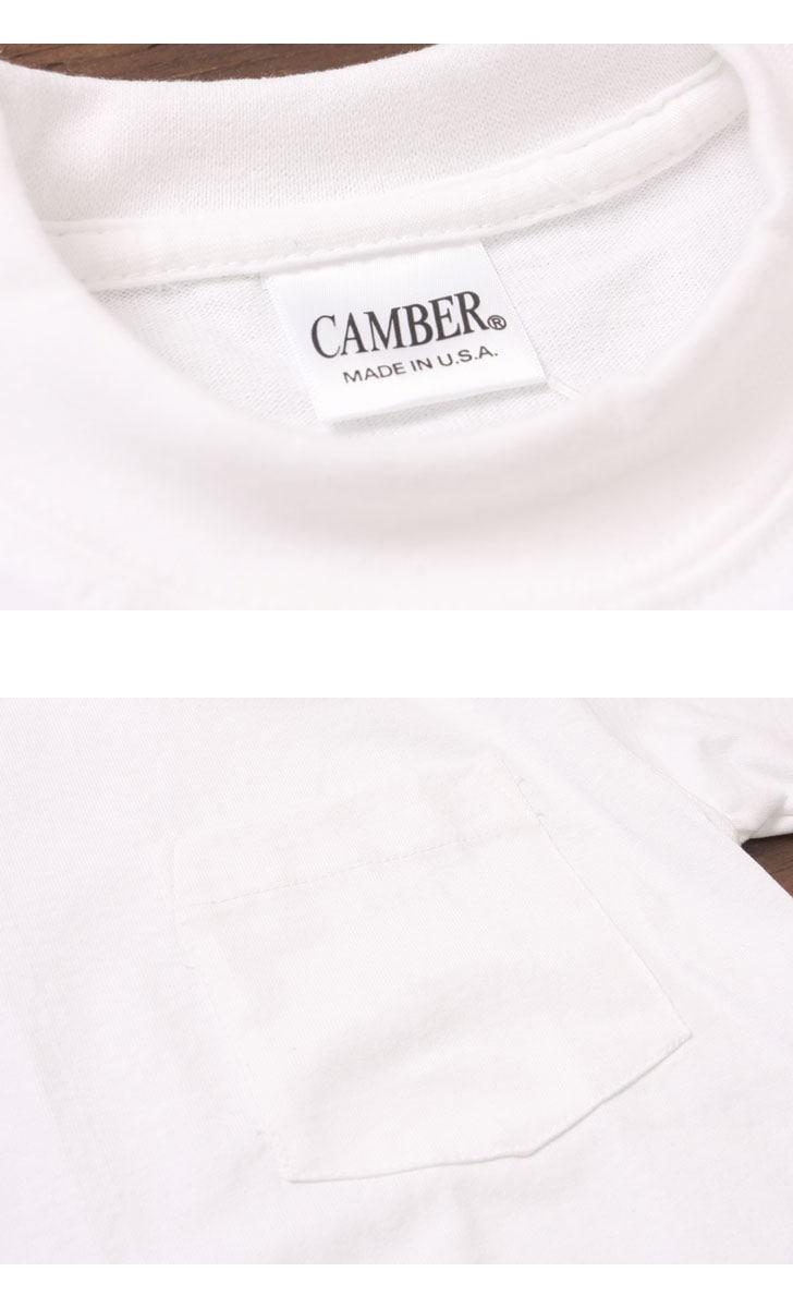 キャンバー CAMBER MAX WEIGHT 8oz ヘビーウェイト半袖ポケットTシャツ #302