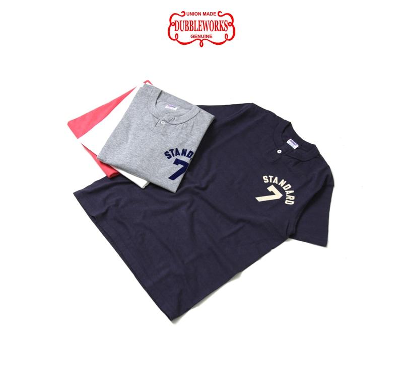ダブルワークス DUBBLEWORKS 33004 ヘンリーネック プリントTシャツ [STAMDARD 7]